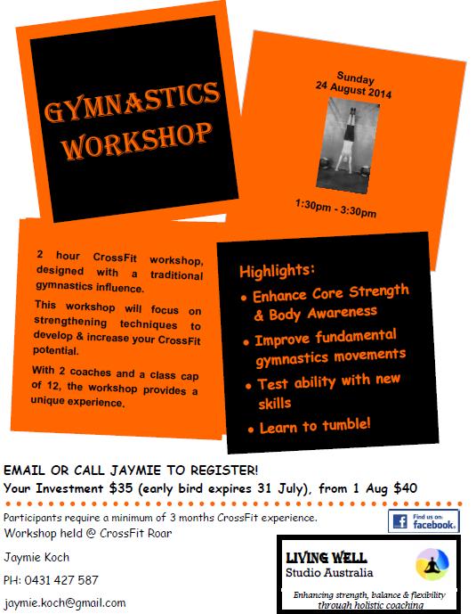 Upcoming Gymnastics Workshop!